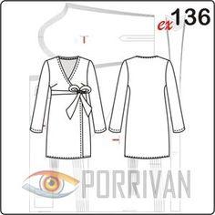 90a07936c64 Выкройка платья с запахом классической модели