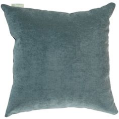 Majestic Home Goods Villa Pillow - Azure - Large (£33) ❤ liked on Polyvore featuring home, home decor, throw pillows, plush throw pillows, woven throw pillows and textured throw pillows