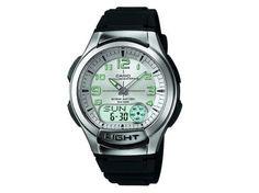 f826c7c4cf4 Relógio Masculino Casio Anadigi - Resistente à Água Cronômetro Mundial  AQ180V 7BVDF - Relógio Masculino