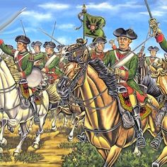 Austrian Dragoons charging during Seven Years War
