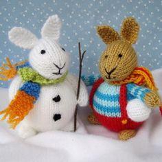 6 Winter Bunnies knitting pattern INSTANT DOWNLOAD von dollytime