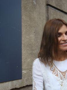 Carine Roitfeld after Valentino show