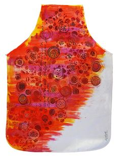 Painted apron by Lizzy Wurmann G.