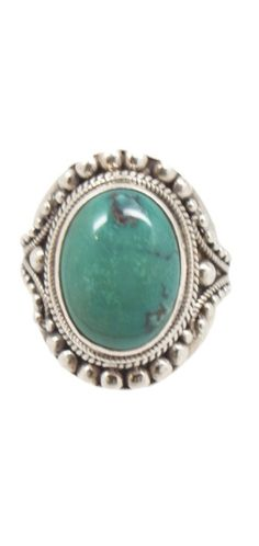 This turquoise ring which is handmade in Tibet is the perfect statement ring.