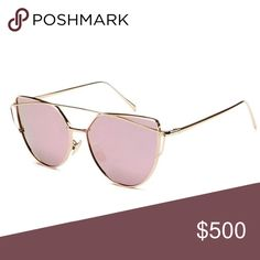 NEW! Pink rose gold sunglasses cat eye mirrored Gorgeous brand new cate eye sunglasses! Ships immediately!  Multiple available wearinla Accessories Sunglasses