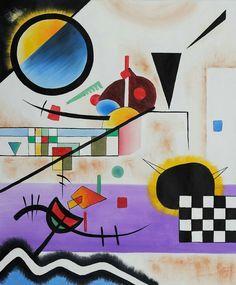 """""""Contrasting Sounds"""". Wassily Kandinsky. 1924."""