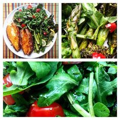 """""""So much flavour! Roasted & with and 💚"""" Watercress Recipes, Brocolli, Tomato Salad, Spice Things Up, Asparagus, Sweet Potato, Roast, Vegan Recipes, Spices"""