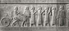 The Lydian Delegation bringing tribute at Persepolis.