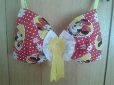 Aimee's fab Minnie Mouse #bra for The London #MoonWalk2015