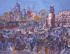 Edward Dwurnik na rynku sztuki | Portal Rynek i Sztuka All Art, Contemporary Art, Scene, Portal, Artist, Polish, Paintings, Street, Art