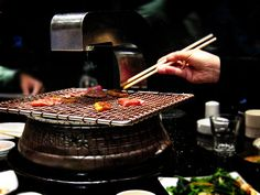 Where to eat in Shenyang: Korean BBQ Table Top Grill, Bbq Table, Korean Barbeque, Metal Grill, K Food, Drinking Around The World, Outdoor Cooking, Places To Eat, Food Photography