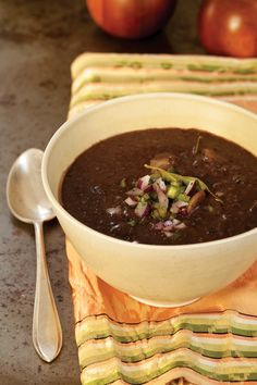 Cuban Black Bean and Potato Soup Recipe | Vegetarian Times