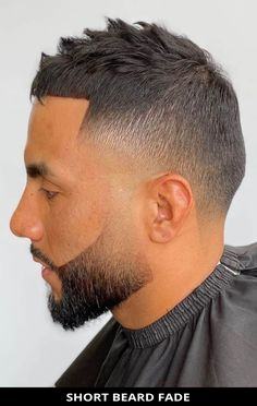 For your next hair appointment, ask for this fashionable short beard fade for your next haircut! Need more inspiration like this? Here are the 22 coolest beard fade haircuts for men. // Photo Credit: @rikzothebarber on Instagram Latest Hairstyles, Hairstyles Haircuts, Haircuts For Men, Beard Fade, Short Beard, Rugged Look, Beard Styles For Men, Awesome Beards, Fade Haircut