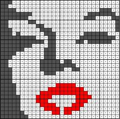 Marilyn Monroe Pixel Crochet, Crochet Chart, Crochet Stitches, Embroidery Stitches, Loom Beading, Beading Patterns, Cross Stitch Designs, Cross Stitch Patterns, Hand Embroidery