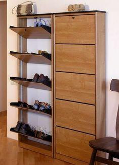 DIY Shoe Rack for Arranging Your Footwear Hall Furniture, Space Saving Furniture, Home Decor Furniture, Furniture Design, Diy Rack, Diy Shoe Rack, Closet Shoe Storage, Shoe Storage Cabinet, Bedroom Closet Design