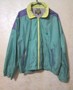 OshKosh B'GOSH Women's Nylon Windbreaker Jacket with zip out hood size Large #oshkosh #Windbreaker