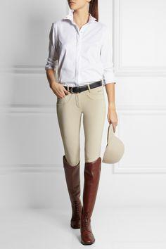 Ariat   Triumph Liberty stretch-pique show shirt #Equestrian