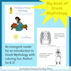 My Book of Greek Mythology - Enchanted Homeschooling Mom Tapestry Of Grace, English Lessons For Kids, Greek And Roman Mythology, History Activities, History For Kids, Toddler Books, Greek History, Ancient History, School 2013