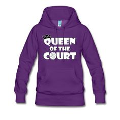 A cute and eye-catching hoodie sweatshirt for volleyball players, coaches and fans! #volleyball