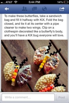 Butterfly snack