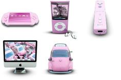 We Love Pink Icons - Artwork by Archigraphs (Cyberella)