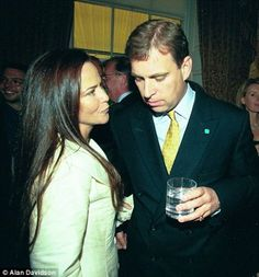 Prince Andrew with old girlfriend Koo Stark. A romance that caused a sensation in 1982 because she was a soft porn actress.