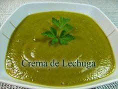 Recetas Caseras Fáciles MG: Crema de lechuga Soup Recipes, Cantaloupe, Pudding, Fruit, Desserts, Blog, Gazpacho, Facebook, Youtube