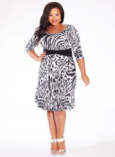 bc4f12aed79 Selby Plus Size Dress in Concrete Cheetah  bbw  curvy  fullfigured  plussize
