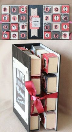 Folding advent calendar using matchboxes for each day