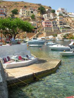 Symi waterside bar , Greece