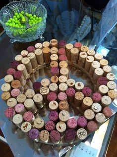 wall art made of wine corks - Google Search