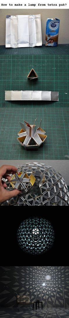 DIY: Tetrapack lamp