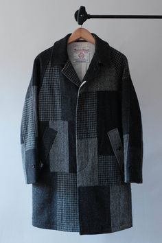 0c1b685dd7de Beams Plus Harris Tweed Patchwork Coat Size US S   EU 44-46   1