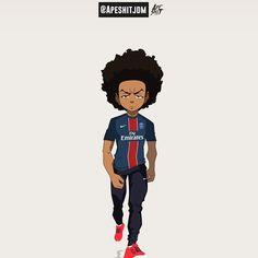 No photo description available. Dope Cartoons, Dope Cartoon Art, Cartoon Kunst, Black Cartoon, Boondocks Characters, Boondocks Drawings, The Boondocks, Black Girl Art, Black Women Art