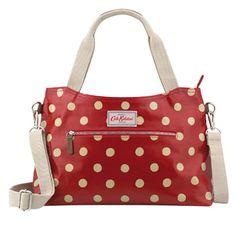 Button Spot Zipped Handbag With Detachable Strap - Cath Kidston