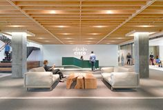From almost any angle the visual impact of Cisco's San Francisco offices is of light, spaciousness, bright color, long sightlines. Cisco recently acquired Meraki, which makes wireless routers and ta…