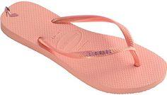 Havaianas Slim Logo Metallic Light Pink Beach Womens Flip Flops-36 - Chaussures havaianas (*Partner-Link)