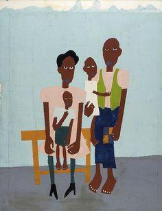 Folk Family (1940-1) by William H Johnson (1901-1970) - (bjws)