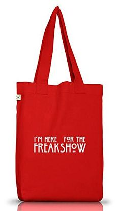 Shirtstreet24, AHS - Freak Show, Jutebeutel Stoff Tasche Earth Positive (ONE SIZE), Größe: onesize,Red - http://herrentaschenkaufen.de/shirtstreet24/one-size-shirtstreet24-ahs-freak-show-jutebeutel-12