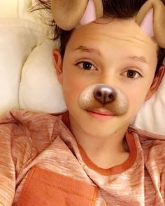 Jacob with the dog filter is so adorable ❤️
