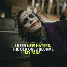 Heath Ledger Joker Quotes, Best Joker Quotes, Joker Heath, Badass Quotes, Best Quotes, Joker Qoutes, Best Attitude Quotes, Batman Quotes, Epic Quotes