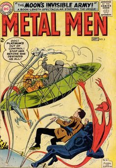 Metal Men #3, September 1963, cover by Ross Andru and Mike Esposito