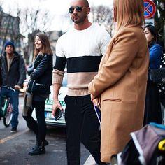 """Milan fashion week , 3 days ago. Wearing Ports 1961 autumn winter 2015/16. #cool #easy #chic #knitwear #menstyle #mensfashion"""