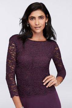 A slimming bodice with elegant bateau neckline and sheer lace sleeves tops a flowing A-line skirt that's always flattering. This exquisite dress is perfect for even the most formal affairs.  By Onyx Nites  Nylon, polyester, spandex  Back zipper; fully lined  Hand wash  Imported