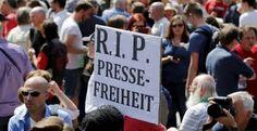 Blog do Arretadinho: Protesto na Alemanha por liberdade de imprensa