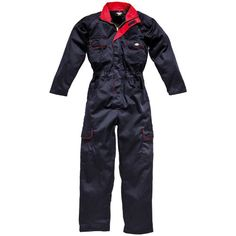 Dickies Ladies Redhawk Overalls Navy/Red Size 10 Features : - Two way metal zip front with studded over placket- Two zipped chest pockets- Tool pocket- Rule pocket- Two swing pockets with side access- Double pencil pocket on sleeve- Full back elasti http://www.MightGet.com/february-2017-2/dickies-ladies-redhawk-overalls-navy-red-size-10.asp