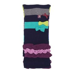 Multi-coloured pull-on scarf from Deux Par Deux.