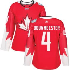 Team Canada  4 Jay Bouwmeester Red 2016 World Cup Women s Stitched NHL  Jersey Hockey Teams 91c7a6079