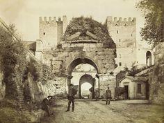 Arco di Druso e porta di San Sebastiano,  (1870 ca)