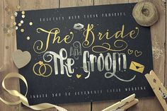 Just Married! Wedding font by Konstantine Studio on @creativemarket